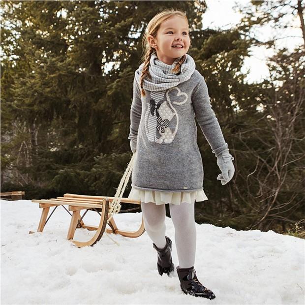 Vestido tricot combinado